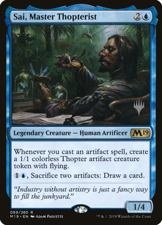 Sai, Master Thopterist [Core Set 2019 Promos] | Alternate Worlds