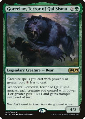 Goreclaw, Terror of Qal Sisma [Core Set 2019 Promos] | Alternate Worlds