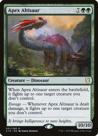 Apex Altisaur [Commander 2019] | Alternate Worlds