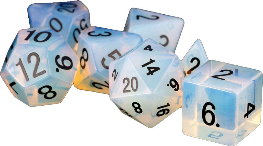 16mm Stone Poly Opalite Dice Set (7) | Alternate Worlds