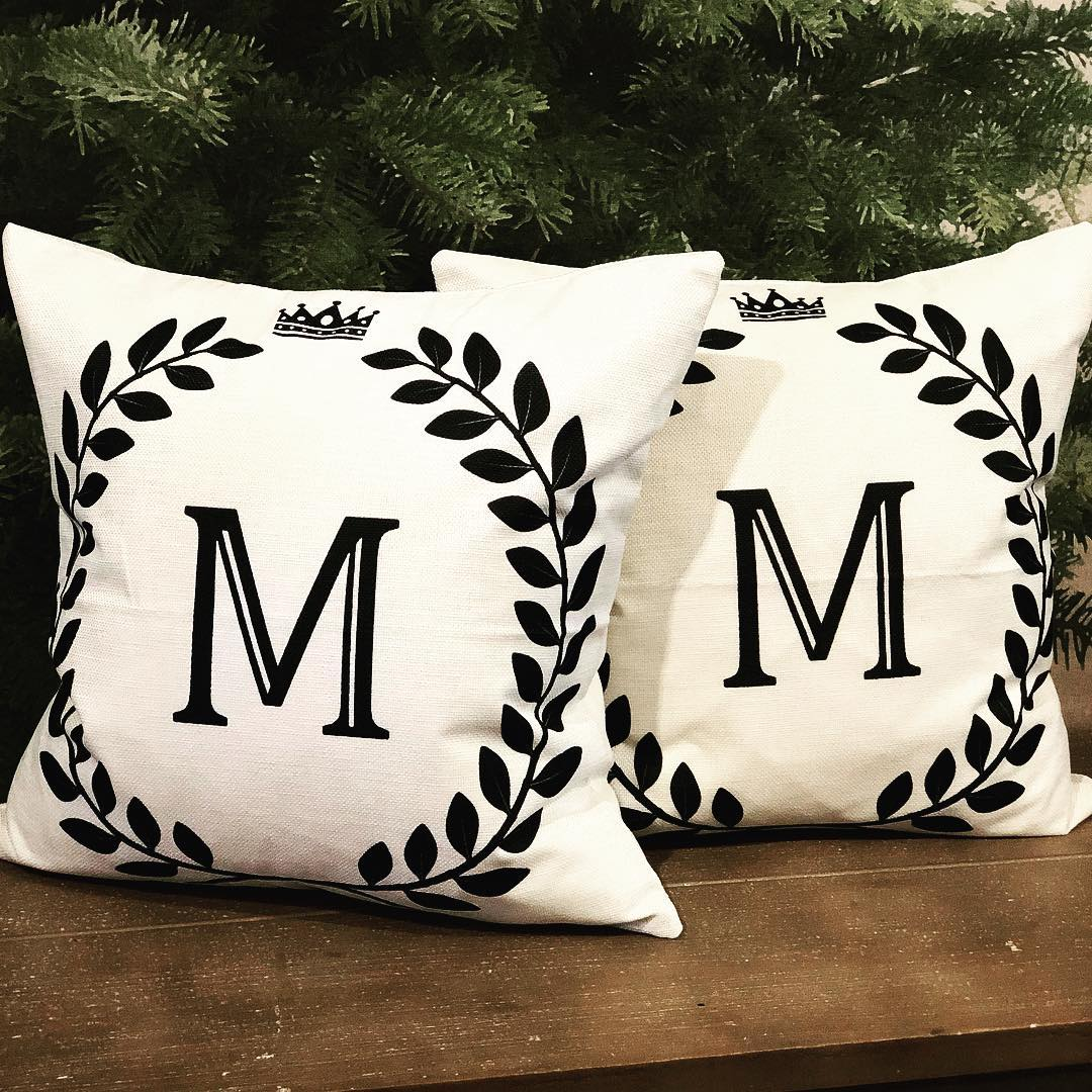 Cotton Linen Alphabet Cushions