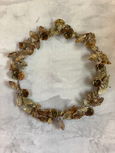 Aged Metal Floral Wreath