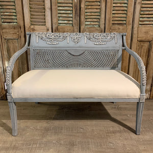 Grey Cane Lounge & 2 Chairs