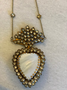 Mother of Pearl Sacred Heart on Chain
