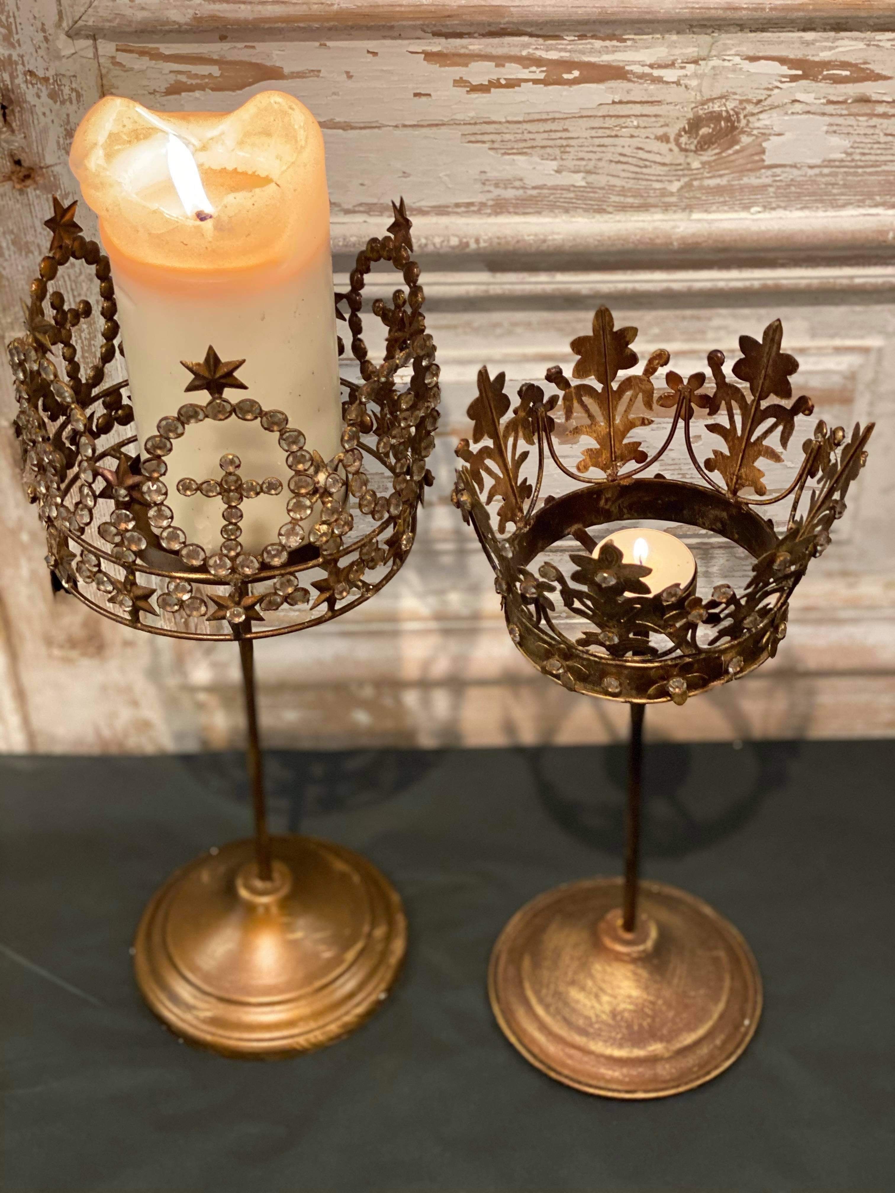 Victorian Crown Candle Holder - 2 Styles