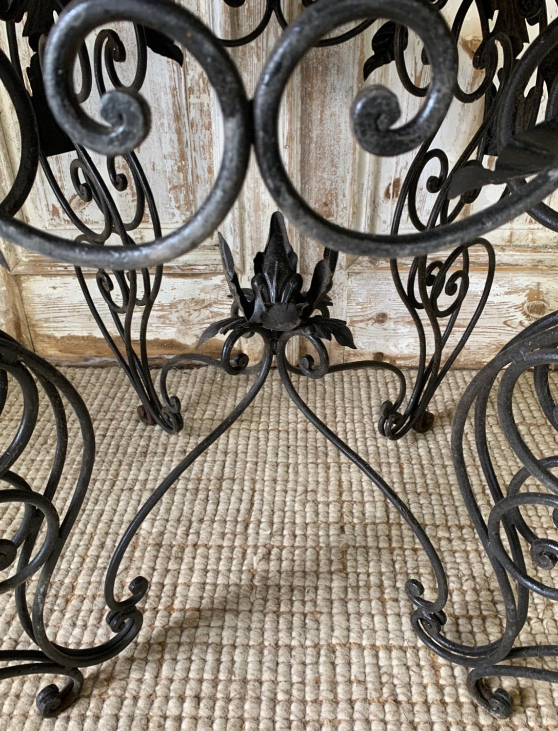 Marble & Wrought Iron Table