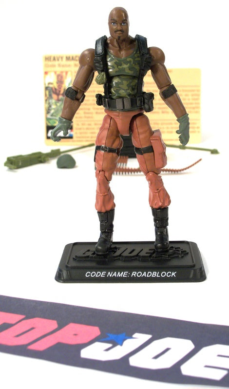 2007 25TH ANNIVERSARY G.I. JOE ROADBLOCK V16 G.I. JOE TEAM BATTLE PACK LOOSE 100% COMPLETE + F/C