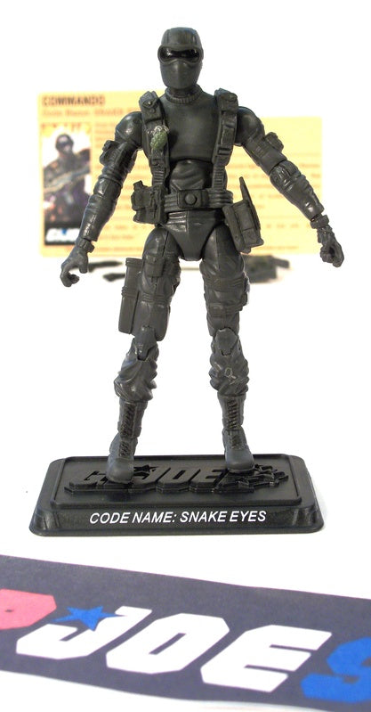 2007 25TH ANNIVERSARY G.I. JOE SNAKE EYES V28 G.I. JOE TEAM BATTLE PACK LOOSE 100% COMPLETE + F/C