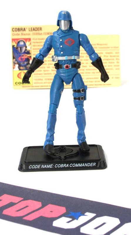 2008 25TH ANNIV G.I. JOE COBRA COMMANDER V30 SENIOR RANKING OFFICERS PACK TRU EXCLUSIVE LOOSE 100% COMPLETE + F/C