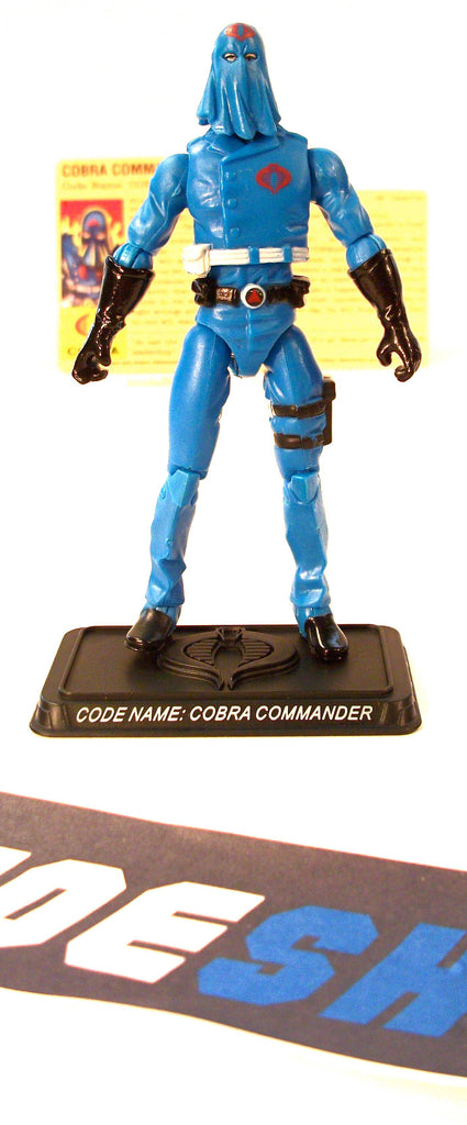 2008 25TH ANNIVERSARY G.I. JOE COBRA COMMANDER V35 DVD BATTLE PACK LOOSE 100% COMPLETE + F/C