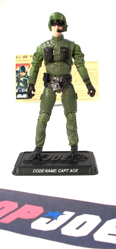 2008 25TH ANNIV G.I. JOE CAPT. ACE V2 SENIOR RANKING AIR COMMAND PACK TRU EXCLUSIVE 100% COMPLETE + F/C