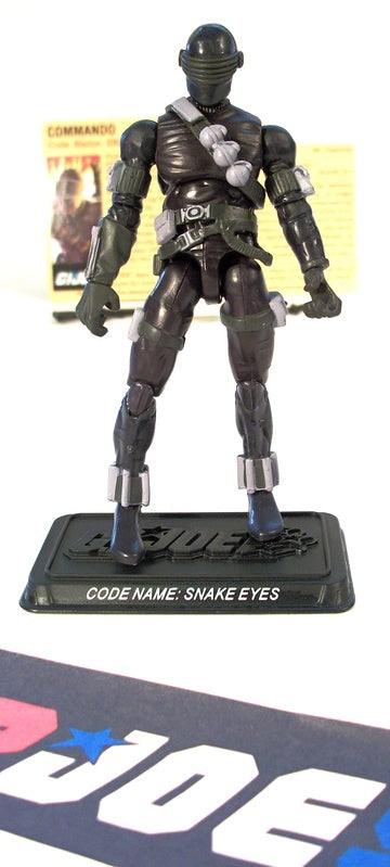 2008 25TH ANNIV G.I. JOE SNAKE EYES V37 DVD BATTLE PACK LOOSE 100% COMPLETE + F/C