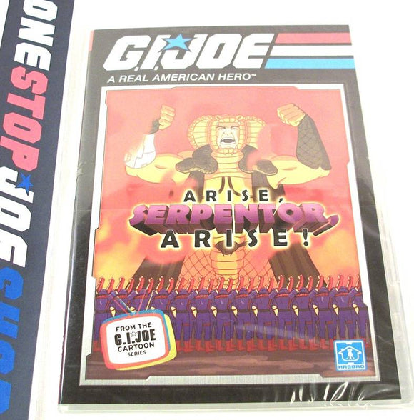 G.I. JOE A REAL AMERICAN HERO ARISE, SERPENTOR, ARISE CARTOON MINI-SERIES 25TH ANNIVERSARY BATTLE PACK DVD #3