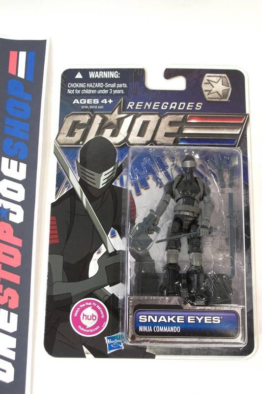 2011 30TH ANNIV G.I. JOE SNAKE EYES V56 NEW SEALED