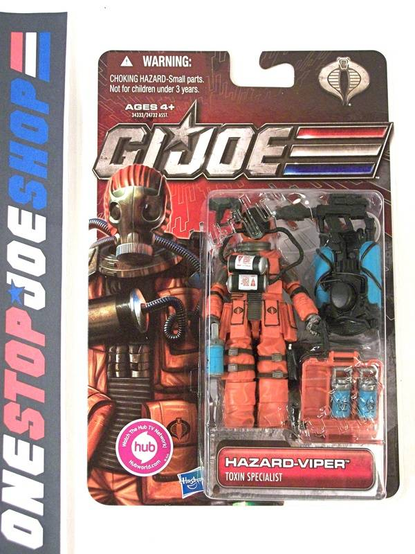 2011 30TH ANNIVERSARY G.I. JOE COBRA HAZARD-VIPER V1 NEW SEALED