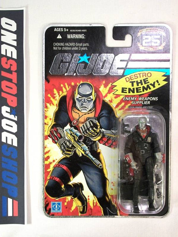2007 25TH ANNIV G.I. JOE COBRA DESTRO V14 WAVE 4 NEW SEALED EMBOSSED CARD