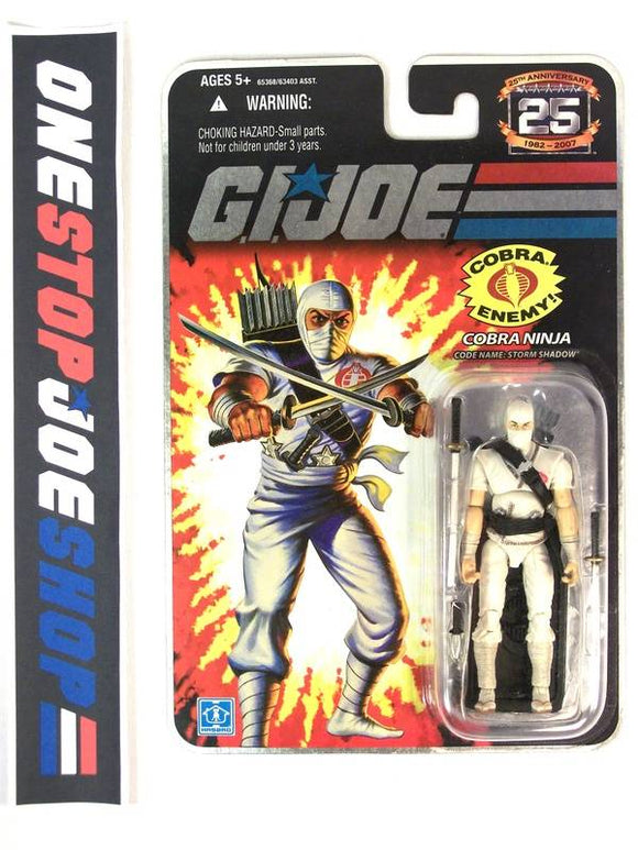 2007 25TH ANNIV G.I. JOE COBRA STORM SHADOW V21 WAVE 4 NEW SEALED FOIL CARD