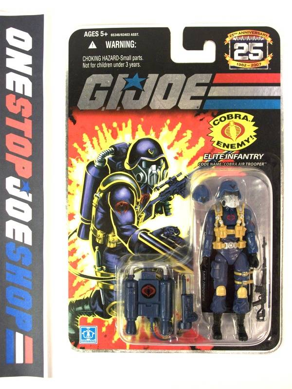2007 25TH ANNIVERSARY G.I. JOE COBRA AIR TROOPER V1 WAVE 4 NEW SEALED FOIL CARD