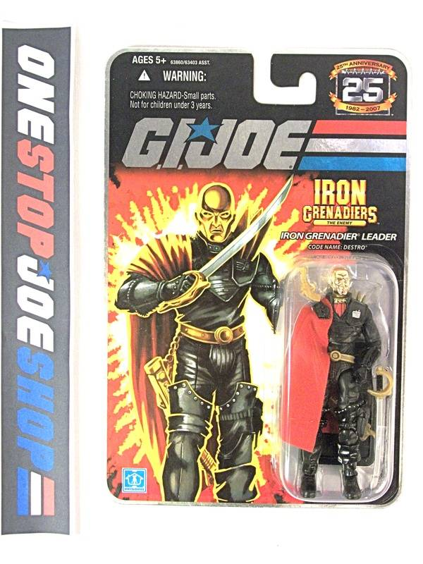 2008 25TH ANNIV G.I. JOE COBRA DESTRO V16 WAVE 5 NEW SEALED FOIL CARD