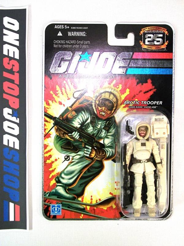 2008 25TH ANNIVERSARY G.I. JOE SNOW JOB V3 WAVE 5 NEW SEALED EMBOSSED CARD