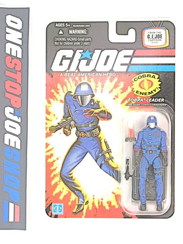2008 25TH ANNIVERSARY G.I. JOE COBRA COMMANDER V31 WAVE 8 NEW SEALED CARTOON CARD