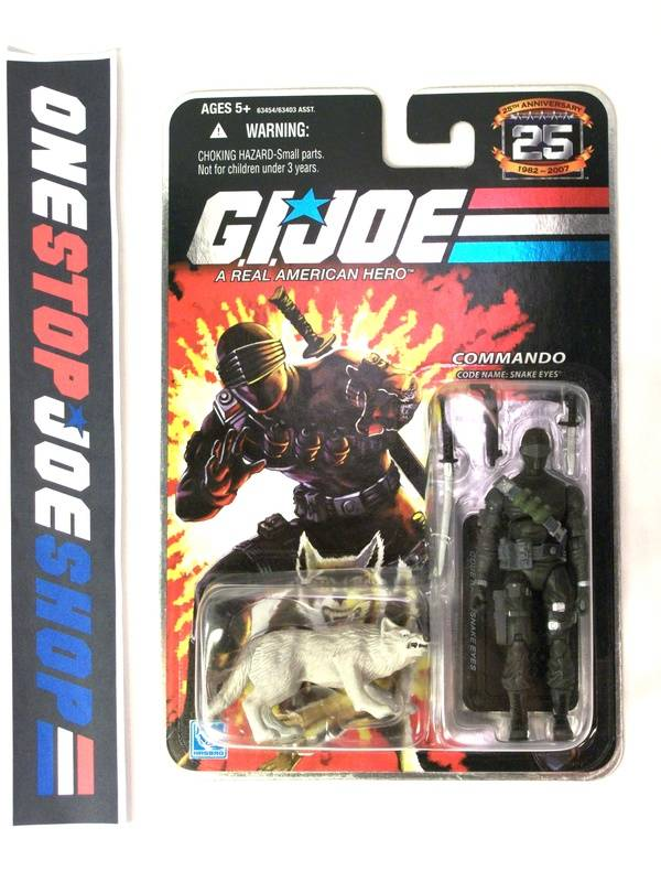 2007 25TH ANNIVERSARY G.I. JOE SNAKE EYES V29 WAVE 1 NEW SEALED FOIL CARD