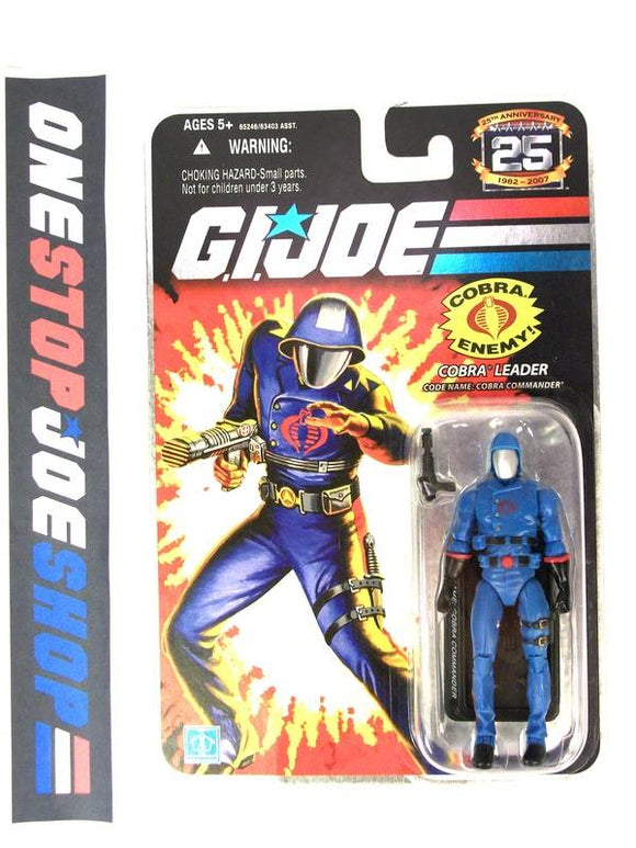 2007 25TH ANNIVERSARY G.I. JOE COBRA COMMANDER V24 WAVE 4 NEW SEALED FOIL CARD