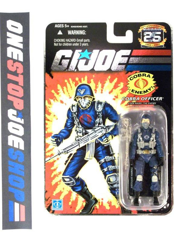 2007 25TH ANNIV G.I. JOE COBRA OFFICER V4 WAVE 1 NEW SEALED FOIL CARD