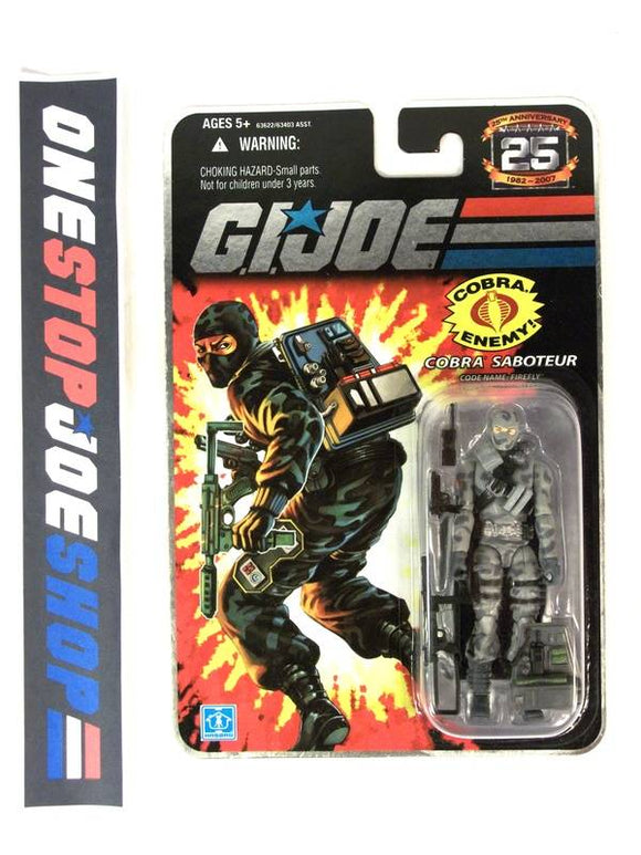 2007 25TH ANNIV G.I. JOE COBRA FIREFLY V14 WAVE 3 NEW SEALED FOIL CARD