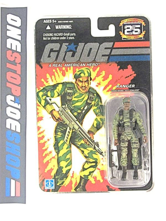 2007 25TH ANNIVERSARY G.I. JOE SGT. STALKER V9 WAVE 3 NEW SEALED FOIL CARD WIDE 'DIAPER' CROTCH VARIANT