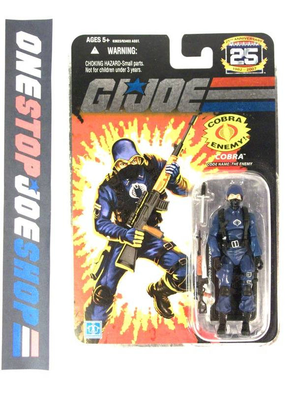 2007 25TH ANNIV G.I. JOE COBRA ENEMY TROOPER V3 WAVE 2 NEW SEALED FOIL CARD