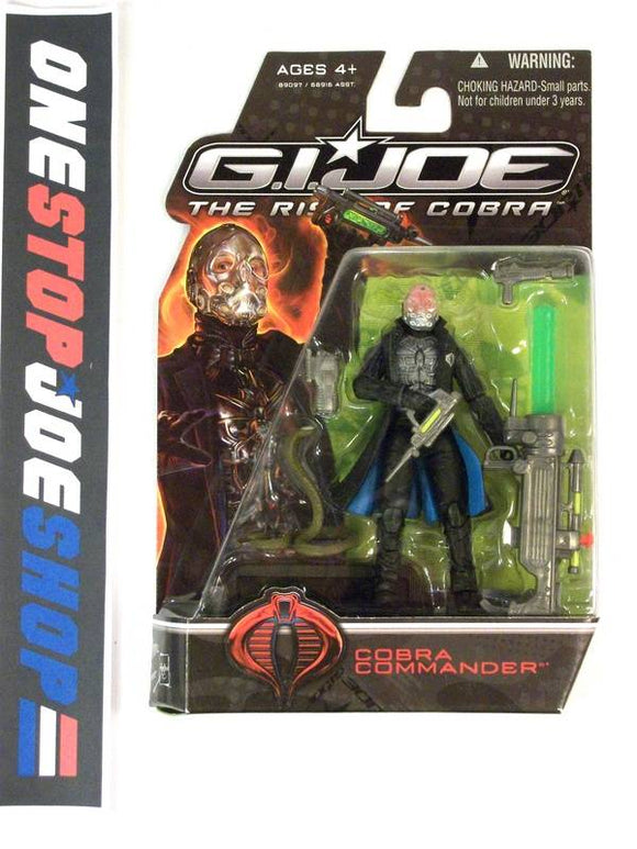 2009 ROC G.I. JOE COBRA COBRA COMMANDER V43 NEW SEALED NO HOLES VARIANT