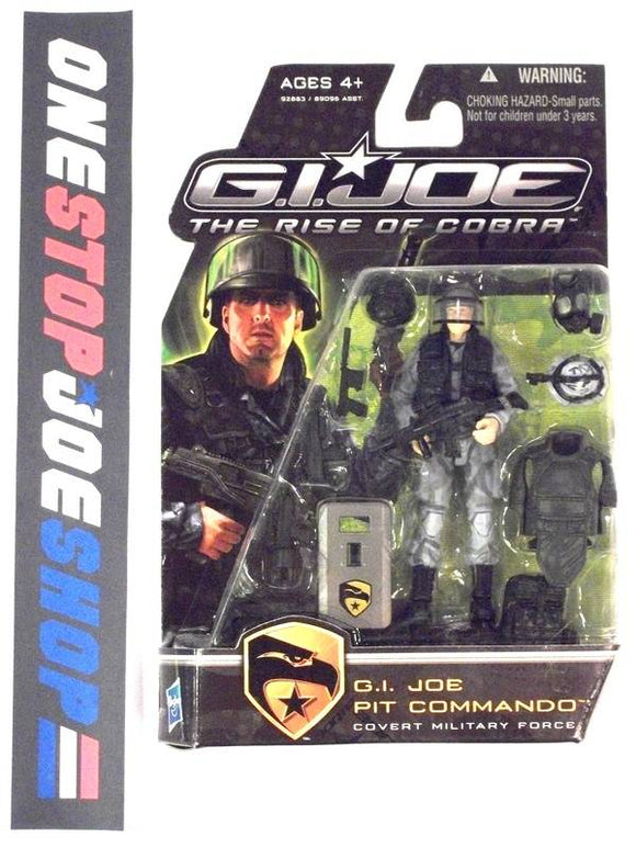 2009 ROC G.I. JOE PIT COMMANDO V1 NEW SEALED SHIELD OUT OF HAND HAND VARIANT