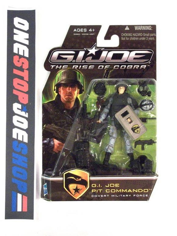 2009 ROC G.I. JOE PIT COMMANDO V1 NEW SEALED SHIELD IN HAND VARIANT