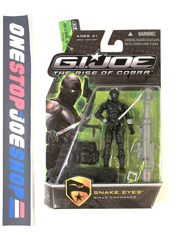 2009 ROC G.I. JOE SNAKE EYES V43 NEW SEALED W/ GI JOE TAG