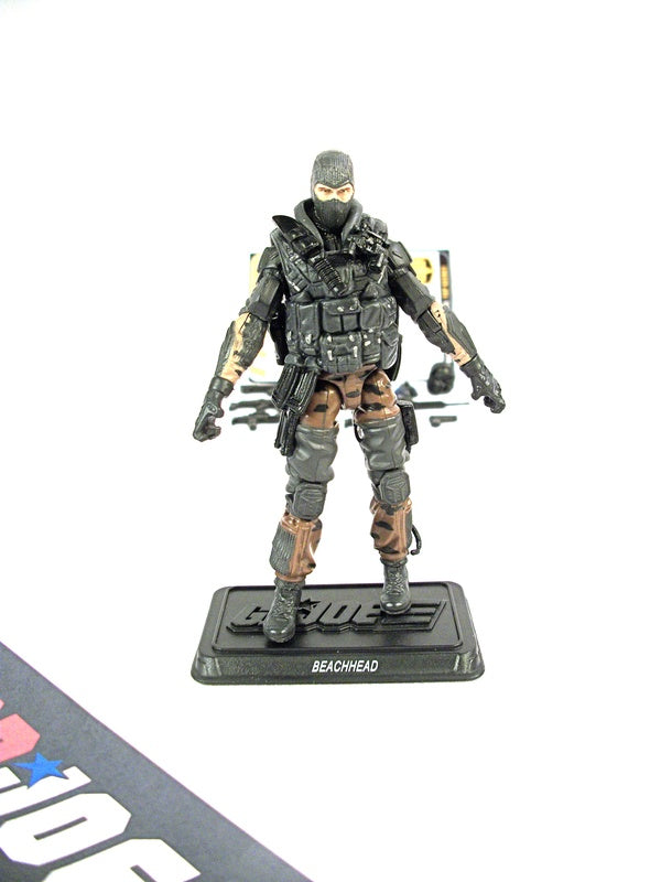 2010 POC G.I. JOE BEACHHEAD V12 WAVE 1 LOOSE 100% COMPLETE + FULL CARD