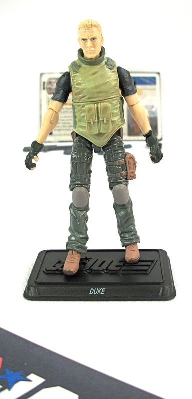 2011 30TH ANNIV G.I. JOE DUKE V44 LOOSE 100% COMPLETE + FULL CARD
