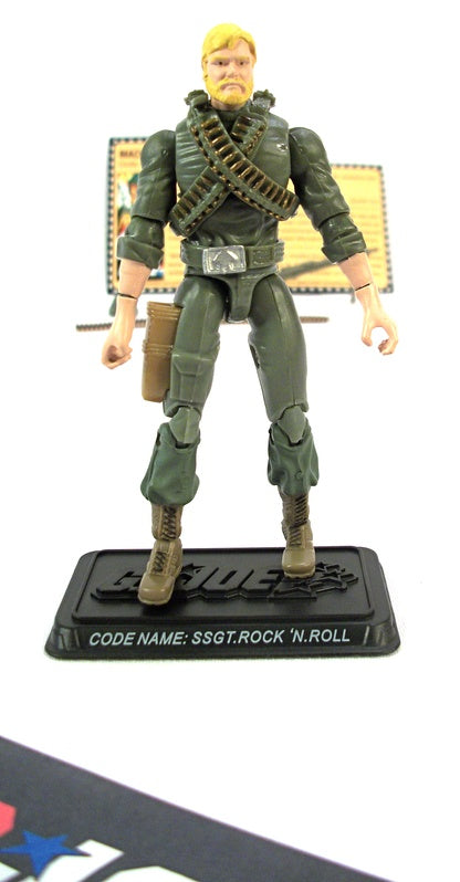 2008 25TH ANNIVERSARY G.I. JOE SSGT. ROCK 'N ROLL V1 WAVE 6 LOOSE 100% COMPLETE + F/C