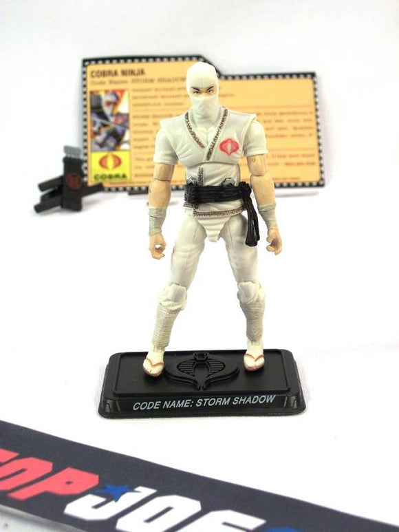 2007 25TH ANNIV G.I. JOE COBRA STORM SHADOW V21 WAVE 4 LOOSE 100% COMPLETE + F/C