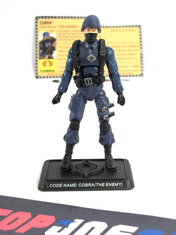 2007 25TH ANNIV G.I. JOE COBRA ENEMY TROOPER V3 WAVE 2 LOOSE 100% COMPLETE + F/C W/ BACKPACK HOLE