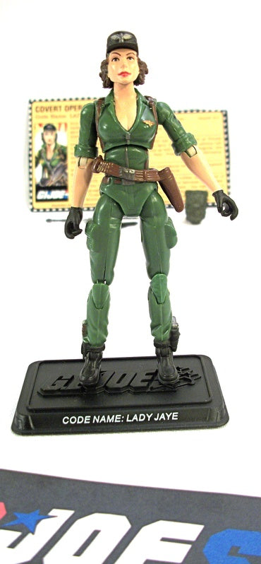 2007 25TH ANNIVERSARY G.I. JOE LADY JAYE V6 WAVE 2 LOOSE 100% COMPLETE + F/C