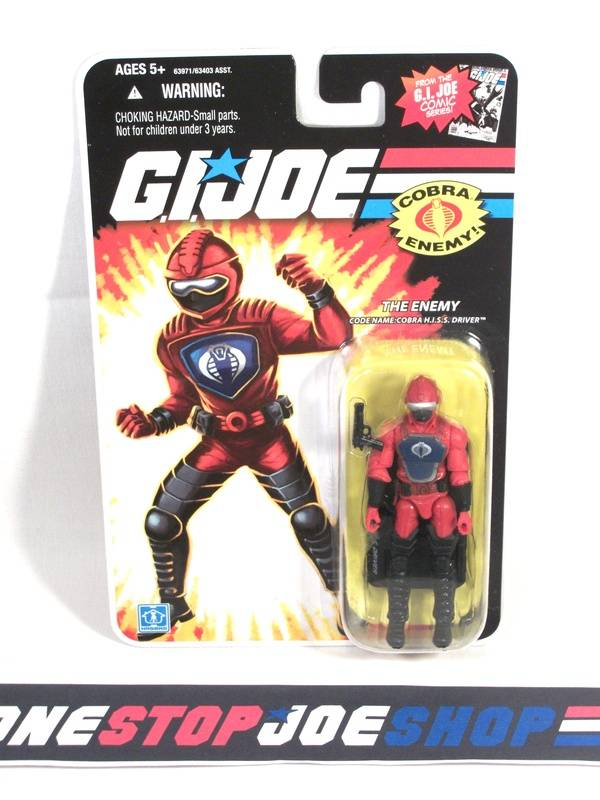 2008 25TH ANNIV G.I. JOE COBRA H.I.S.S. DRIVER V2 WAVE 7 NEW SEALED COMIC CARD