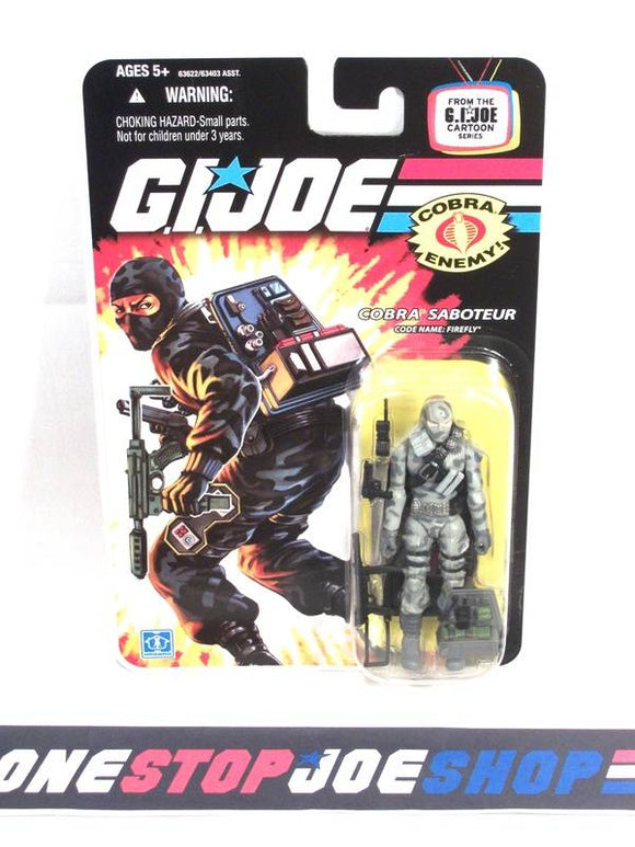 2007 25TH ANNIV G.I. JOE COBRA FIREFLY V14 WAVE 3 NEW SEALED CARTOON CARD