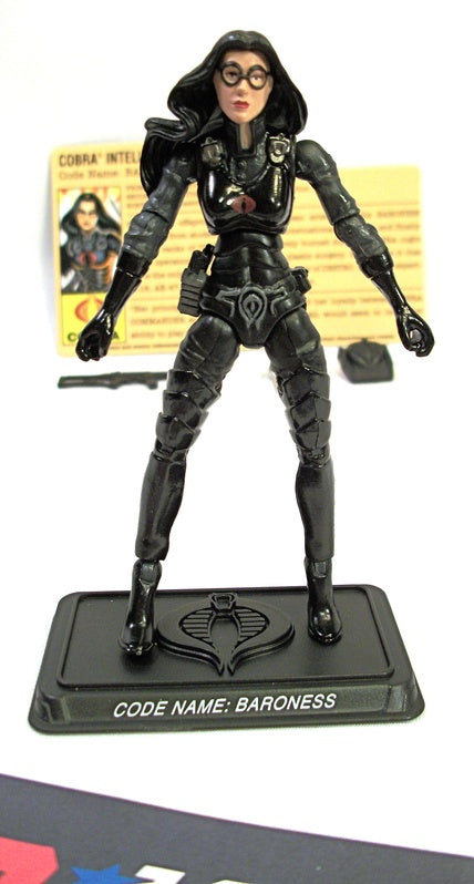 2007 25TH ANNIVERSARY G.I. JOE COBRA BARONESS V9 COBRA THE ENEMY BATTLE PACK LOOSE 100% COMPLETE + F/C