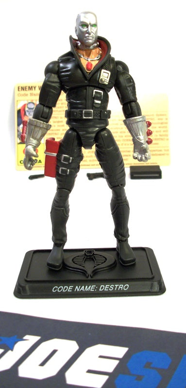 2007 25TH ANNIV G.I. JOE COBRA DESTRO V14 COBRA THE ENEMY BATTLE PACK LOOSE 100% COMPLETE + F/C