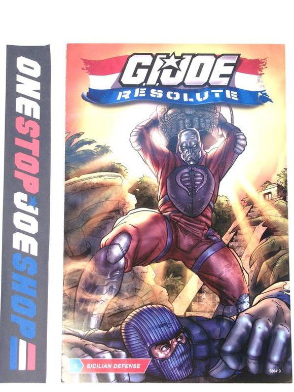 HASBRO G.I. JOE RESOLUTE ISSUE #1 COMIC BOOK RESOLUTE COMIC PACK