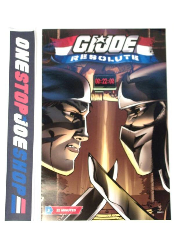 HASBRO G.I. JOE RESOLUTE ISSUE #2 COMIC BOOK RESOLUTE COMIC PACK