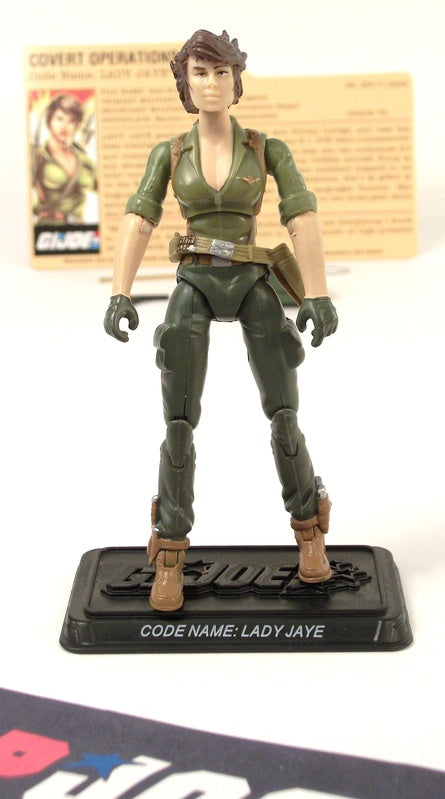 2008 25TH ANNIV G.I. JOE LADY JAYE V7 DVD BATTLE PACK LOOSE 100% COMPLETE + F/C