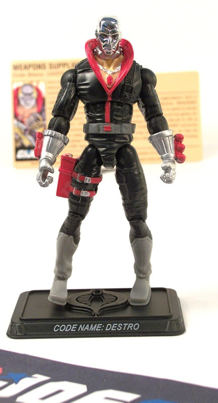2008 25TH ANNIV G.I. JOE COBRA DESTRO V18 DVD BATTLE PACK LOOSE 100% COMPLETE + F/C