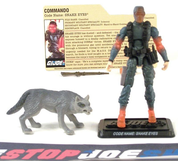 2008 25TH ANNIV G.I. JOE SNAKE EYES V36 DVD BATTLE PACK LOOSE 100% COMPLETE + F/C